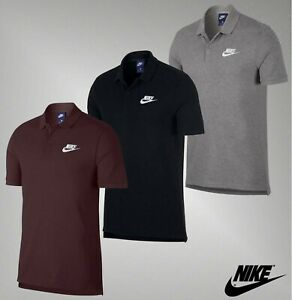 Mens-Nike-Cotton-Short-Sleeves-Side-Splits-Top-Match-Up-Polo-Shirt-Sizes-S-XXL