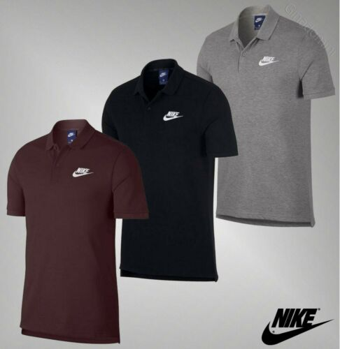 Mens Genuine Nike Cotton Short Sleeves Side Splits Top Match Up Polo Shirt S-XXL