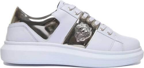 Guess Homme Cuir Élégant Matt Low Cut Trainers in white or Tailles UK 6-12