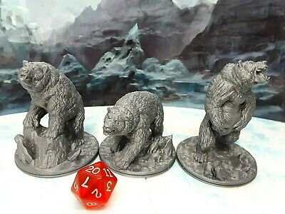 Armored Bears Miniature Mini Figure Tabletop Game Piece Dungeons /& Dragons D/&D