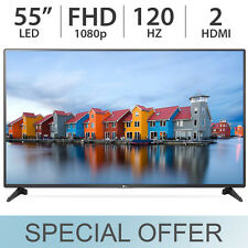 "LG 55"" inch 1080p FULL HD 120Hz Class LED FHD LCD TV w/ 2 HDMI 55LF6000"