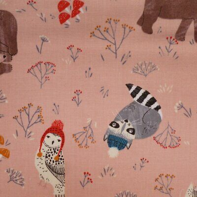 Fat Quarter Snow White and Animal Friends Cotton Quilting Fabric Springs 53404