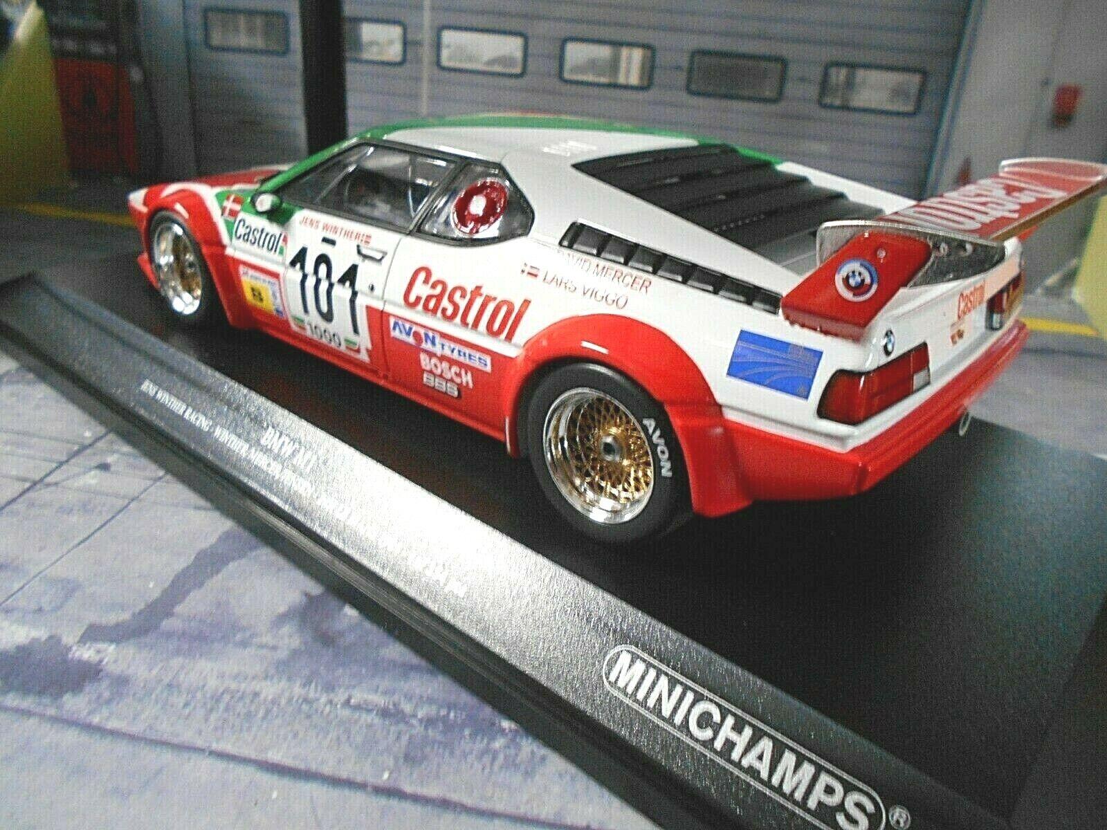 Normales Design BMW M1 E26 24h Le Mans 1984 Winther Mercer
