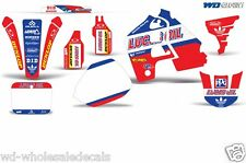Graphic Kit Honda CR 500 Decal Wrap w/Backgrounds/Rim Trim Sticker CR500 91-01 L