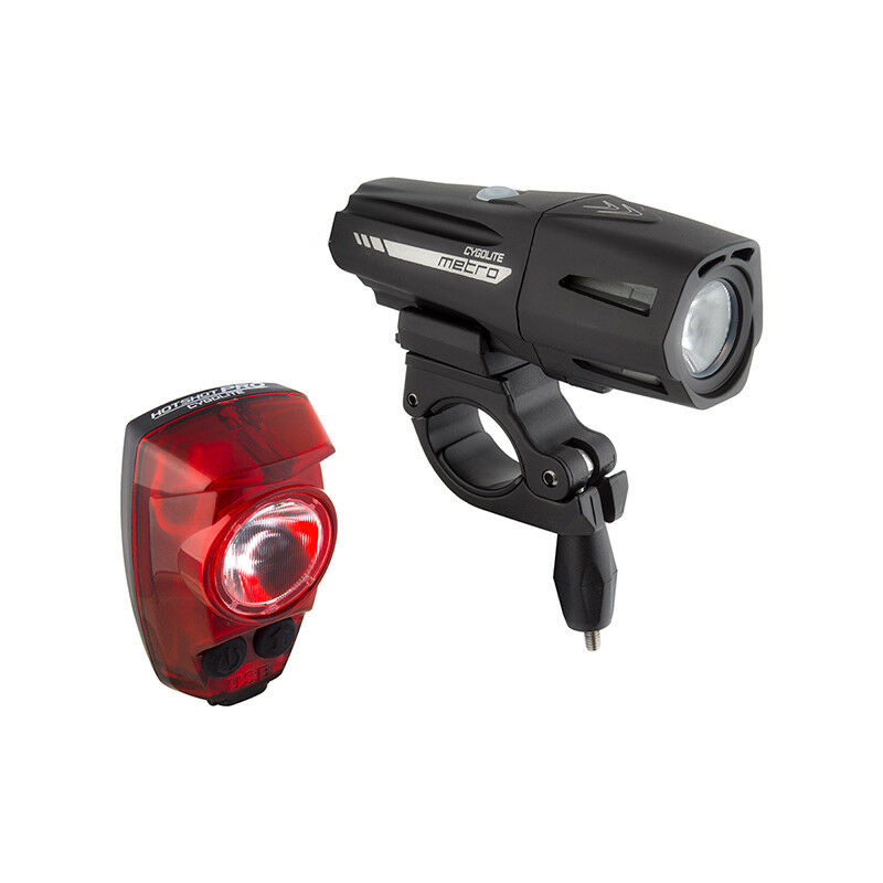 Cygolite Metro Plus 800  Hotshot Pro 150 Bike Head & Tail Light Combo Set USB