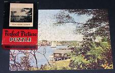 "VTG PERFECT PICTURE JIGSAW PUZZLE ""GLOUCESTER HARBOR"" LAKE SHORE SAILBOATS CIB"