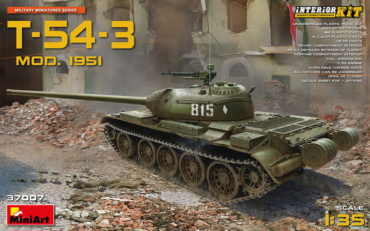 T-54-3 Medium tank. Mod. 1951. Interior kit 1 35 MiniArt  37007