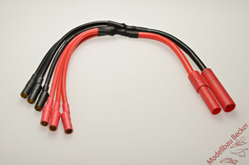 3x 3,5 mm Goldsteckverbinder ESC Motorkabel 4 mm HXT Goldsteckverbinder