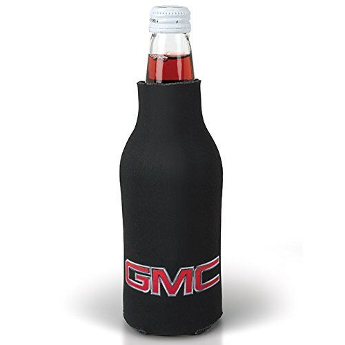 GMC Black Zippered Bottle Coolie