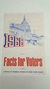LEAGUE-OF-WOMEN-VOTERS-ORIGINAL-1968-FACTS-FOR-VOTERS-PAMPHLET-NY-EXCELLENT