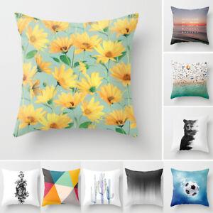 Am-AU-KF-Peach-Skin-Flower-Bear-Football-Car-Home-Sofa-Pillow-Case-Cushion-Co