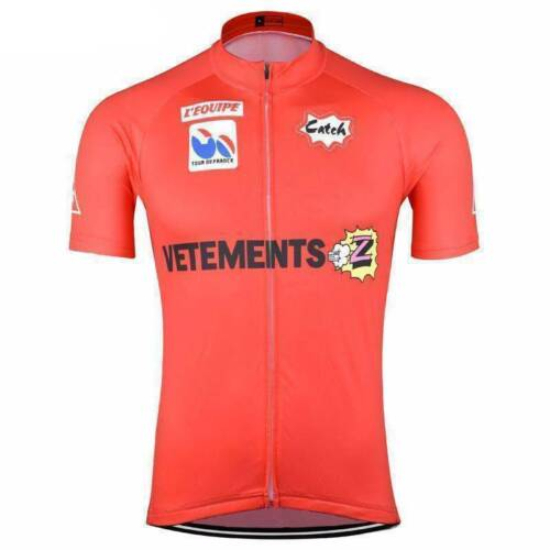 Brand New Retro Team Z Vetements Red Cycling Jersey