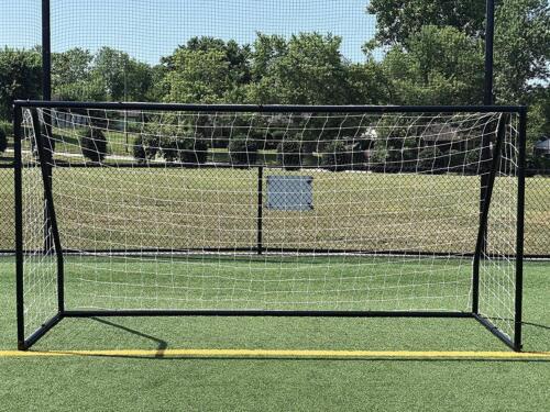 Vallerta Premier 12 X 6 FT Regulation Size Soccer Goal Black