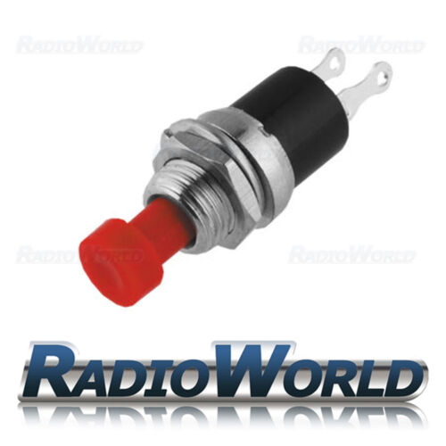 12v Push Button Switch Momentary ON OFF SPST Car Dash Horn Engine Start Red