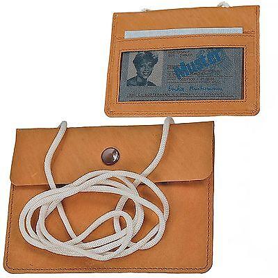 Kleiner Premium Leder-Brustbeutel von Manage 10 x 12,5 cm feines Rindnappa Leder