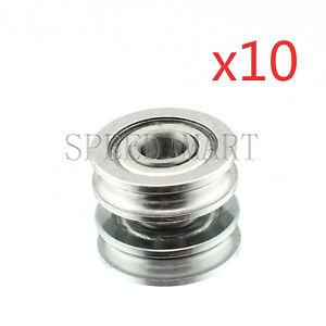 10-PCS-4x13x4mm-U604ZZ-U-Groove-Guide-Pulley-Sealed-Rail-Ball-Bearing-3D-Printer