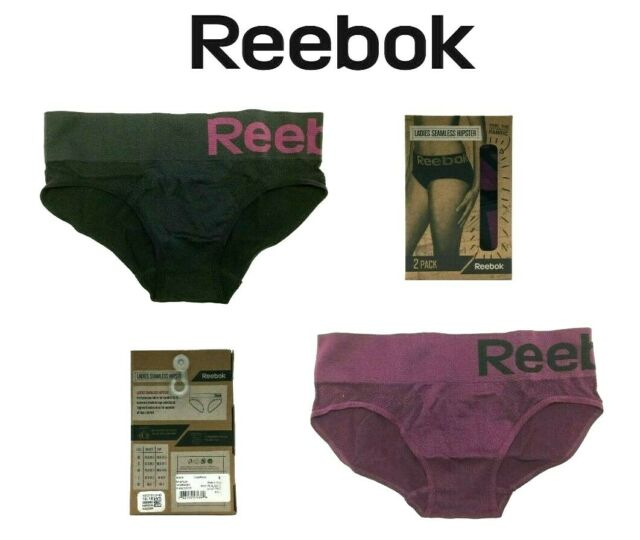 648fb45829ae Reebok Small 2 Pack Women's Seamless Hipster Performance Workout Panties  Purple