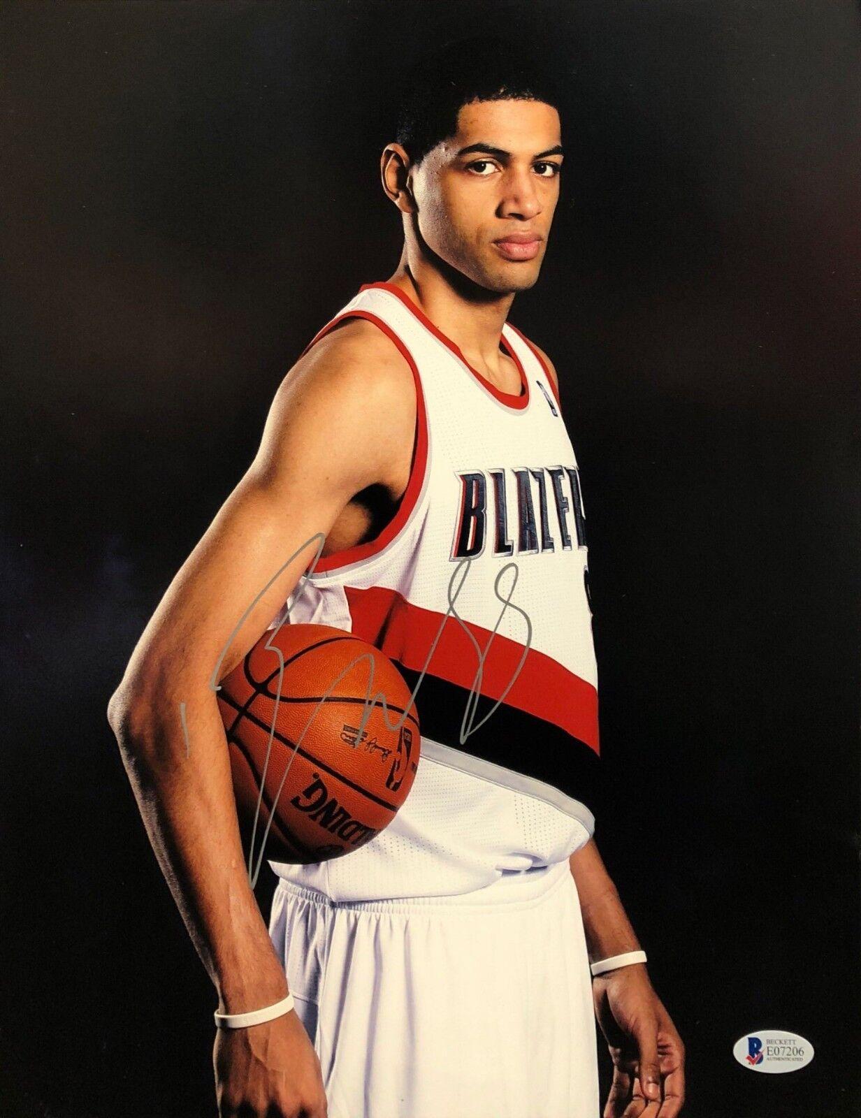 Nicolas Batum Signed Portland Trail Blazers 11x14 Basketball Photo Beckett BAS