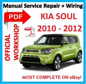 official workshop manual service repair for kia soul 2010 2012 ebay rh ebay co uk 2010 Kia Soul Silver 2010 Kia Soul Plus Interior