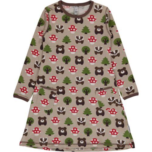 Forest animals organic dress from Maxomorra 2 3 4 5 6 7 8Christmas