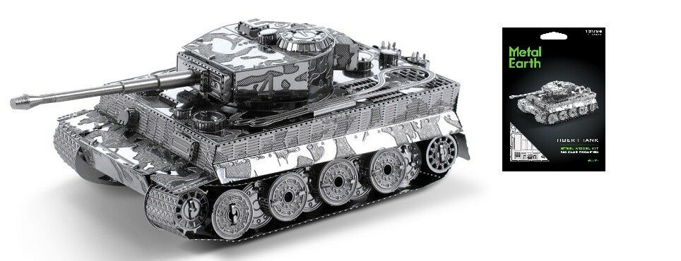 Tiger i Serbatoio Carro Armato Kit Metallo 3d metall bausatz Originale Earth