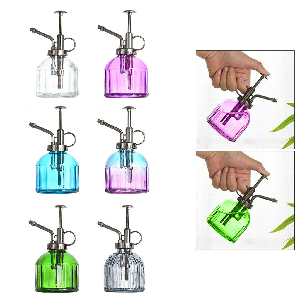 Small Glass Plant Mister Watering Can Watering Spray Bottle Garden Outdoor