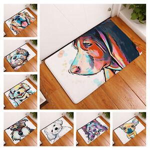 Lovely Painting Dog Carpet Anti Slip Floor Mat Outdoor Rug Animal
