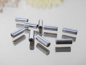 20-St-Roehrchen-Haematit-9-5x3mm-Farbe-silber-Zwischenperle-Walze-Zylinder