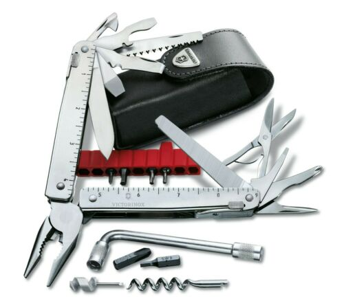 Victorinox 3.0338.L SwissTool X Plus Swiss 37 Tools W// Leather Pouch Multi-Tool