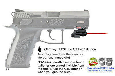 ArmaLaser GTO for CZ P-07 & P-09 Red Laser Sight w/ FLX31 Grip Touch  Activation 768612093802 | eBay