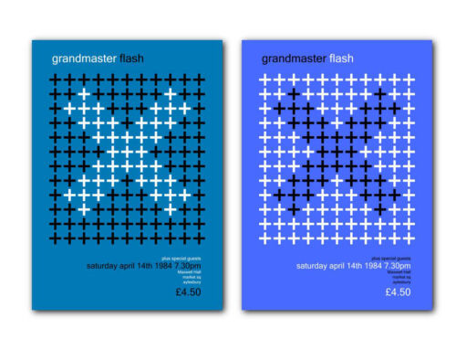 Grandmaster Flash ❤ a pair of modernist poster art prints 1984 old skool rap