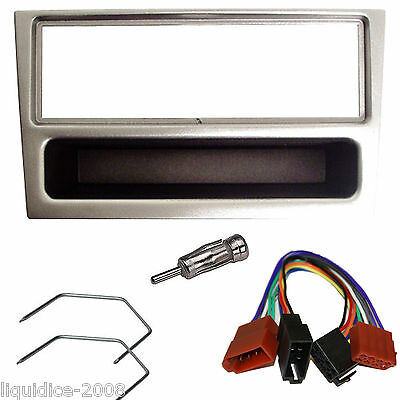 VAUXHALL MERIVA 2003 to 2010 SILVER FASCIA FACIA STEREO FITTING PACKAGE