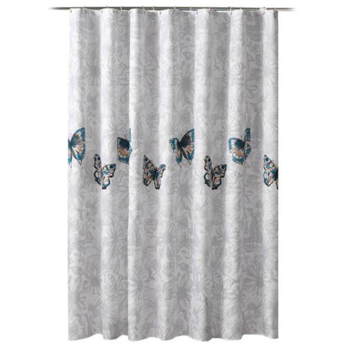 Shower Curtain Bath Rings Hook Set Geometric Bathroom Fabric Decors