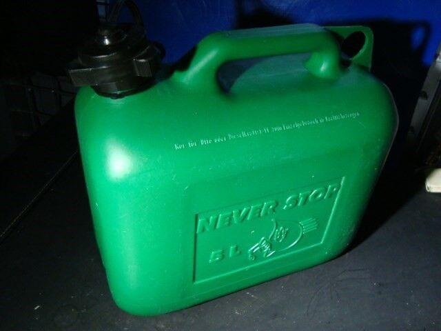"Reservedunk / benzintank 5 l. ""Never stop"""