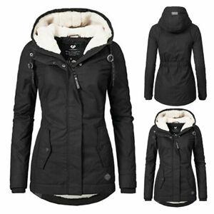 Damen Kapuzenjacke Jacke Stepp Parka Mantel Winterjacke Warm Gefüttert Outwear