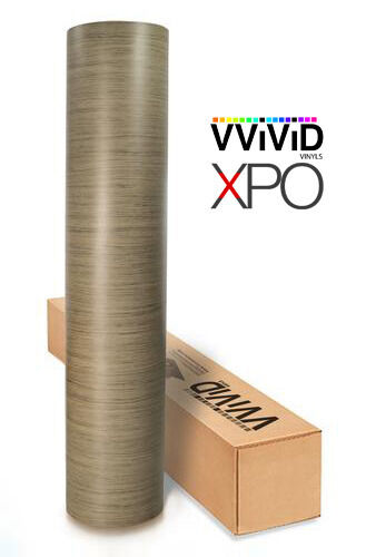 Vvivid Light Teak wood grain vinyl 7.5ft x4ft 3MIL car decor RHINOC wrap