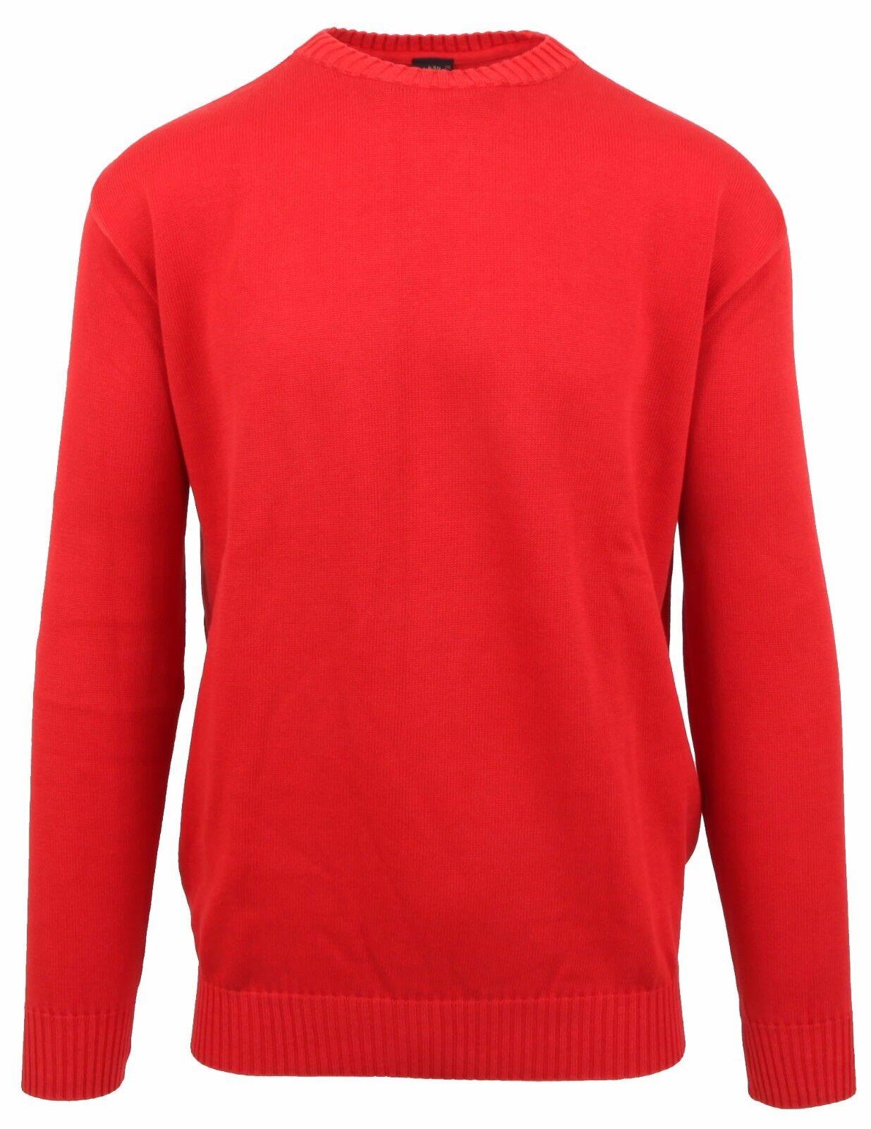 PAUL & SHARK YACHTING Pullover Sweater Rundhals Größe 2XL XXL 100% Baumwolle Rot