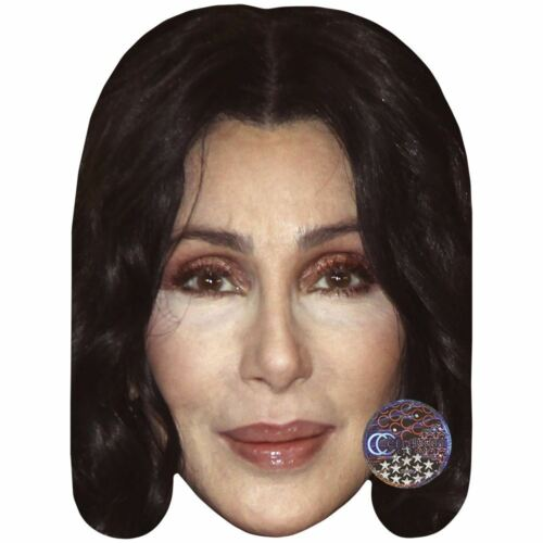 Black Hair Card Face and Fancy Dress Mask Celebrity Mask Cher