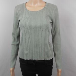 J-Jill-Women-039-s-Top-Long-Sleeve-Sweater-Shirt-Knit-Blue-Gray-Size-XS
