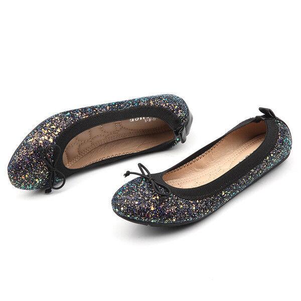 Ballerine mocassini scarpe strass eleganti nero comode simil pelle 2.5 cm comode nero 1386 384bc3