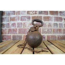Antique Cast Iron 50lb Prison Ball and Chain