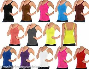 86933fe4932 Image is loading Womens-TANKTOP-Mopas-WRINKLED-CAMISOLE-Lace-Straps-ONE-