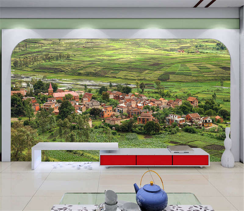 Madagascar Small Town Full Wall Mural Photo Wallpaper Print Kids Home 3D Decal