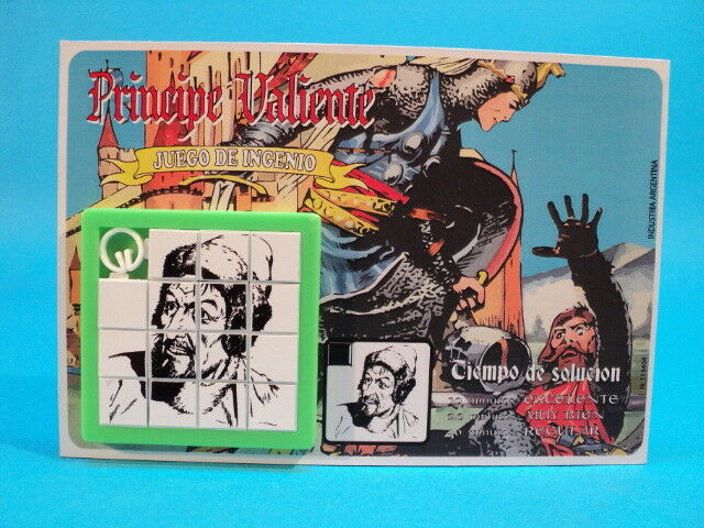 PRINCE VALIANT  Sir MODRED  SLIDE PUZZLE SKILL GAME  Harold Foster  CARDED