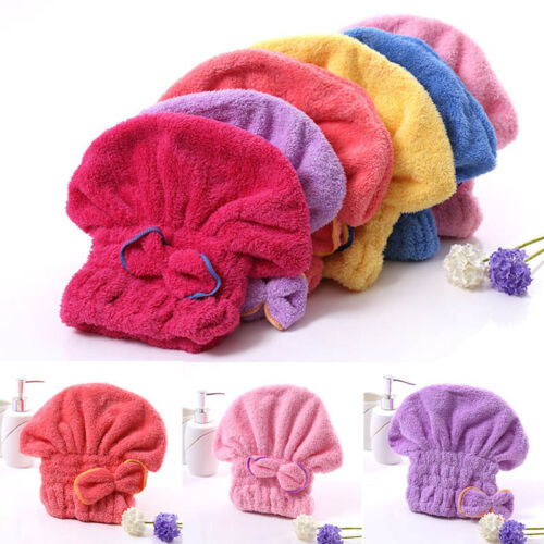 New Textile Useful Dry Microfiber Turban Quickly Hair Hats  Wrapp Towels Bathing