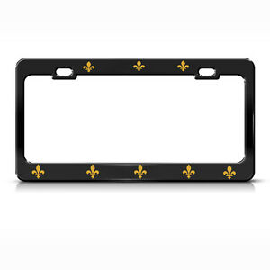 SAINTS FLEUR DE LIS METAL NOVELTY LICENSE PLATE TAG
