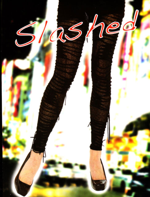 ***SALE*** Sexy High Fashion Designer Slashed Leggings Small, Medium and Large