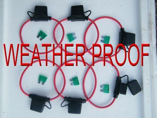 INLINE FUSE 30 AMP FUSE HOLDER X 6  WEATHER PROOF
