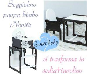 Distingué Seggiolino Pappa Bimbo Novità Diventa Sedia Più Tavolino Varie Fantasie Offerta