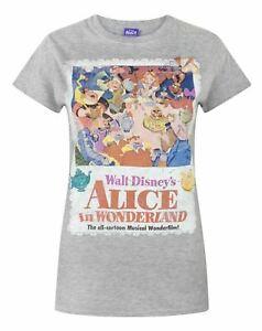 Alice-In-Wonderland-Poster-Grey-Women-039-s-T-Shirt